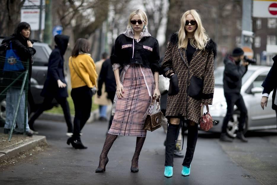 Mix pattern fashion